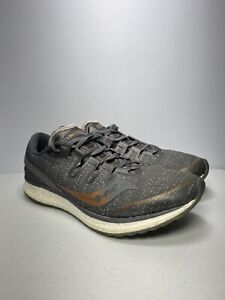 Saucony Freedom Iso Womens Size 11 Running Shoes Gray Gold