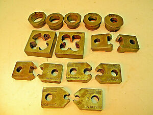 Vintage 15pc N p t Threading Set Machinist Pipe Fitting Tools Plumbing