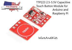 1 X Ttp223 2 5 5 5v Capacitive Touch Button Module For Arduino Rpi Us Seller