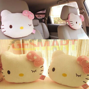 Cute Hello Kitty Seat Head Neck Rest Cushion Pillows For Auto Car Home