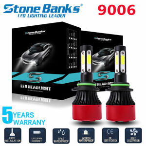 4side 9006 Hb4 Led Headlight Bulbs Conversion Kit High Low Beam 6000k White