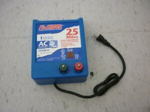 Fi shock Eac25m fs 25 Miles Electric Fence Controller Ac Power Tested