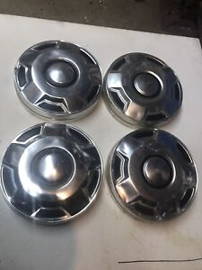 4 Full Set 1980 And 1990 Ford F 150 Truck Bronco 4x4 Dog Dish Hubcaps