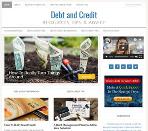Debt Credit Relief Affiliate Website Business For Sale With Auto Content