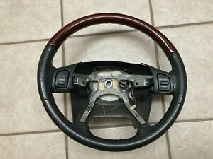 Bent 2002 2004 Jeep Grand Cherokee Overland Wj Wood Leather Steering Wheel