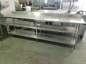 8 Ft Stainless Steel Work Table