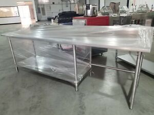 8ft Stainless Steel Heavy Duty Work Table