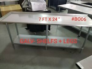 7 Ft Stainless Steel Work Table