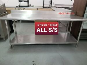 Commercial 7 Ft Stainleess Steel Work Table