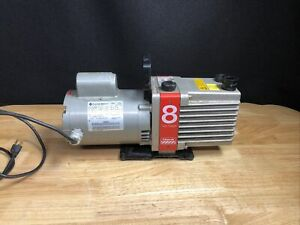 Edwards Two Stage Vacuum Pump E2m8 W franklin Electric 1 2hp Motor Jhb6