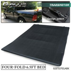 For 02 17 Dodge Ram 1500 2500 6 4ft 78 Truck Bed Four fold Soft Tonneau Cover