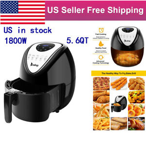 1800w Air Fryer 5 6qt Led Oilless Electric Oven 7cooking Preset Timer Non stick