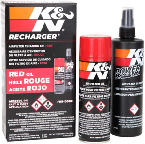 K n Air Filter Cleaning Cleaner Recharger Kit With Oil Spray Can 99 5000