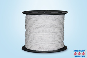 Electric Fence Poly Rope 1 4 X 660