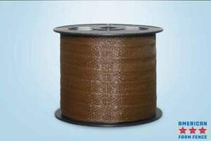 Brown Electric Fence Polytape 1 1 2 X 660 Spliced lot Of 4 Rolls