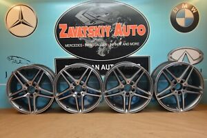 2013 W204 Mercedes C63 C350 Amg Sport 18 Factory Staggered Wheels Rims Set Of 4