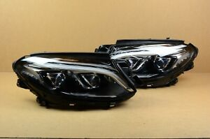 Complete 16 17 18 Mercedes Gle Class Left Right Led Headlight Set Pair Oem