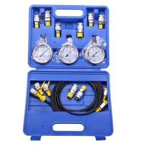 5x hydraulic Pressure Test Tester Kit Hydraulic Equipment Pressure Testing Tool