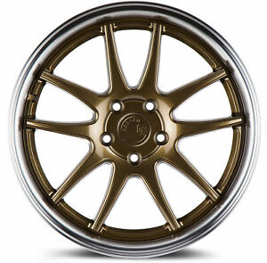 4 new 18 Aodhan Ds02 Ds2 Wheels 18x8 5 5x114 3 35 Bronze Rims 73 1