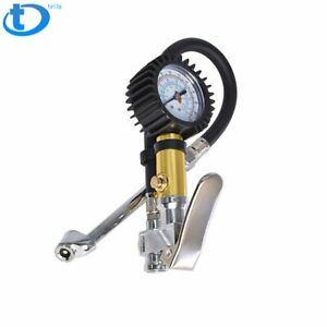 Pro Air Tire Inflator With Dial Gauge Dual Chuck Tire Ball Bike Inflator 220 Psi