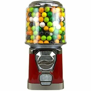 Gumball Machine For Kids Red Vending Cylinder Bank Home Coin Bubblegum Ball