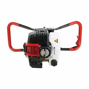 52cc Post Hole Digger Gas Powered Earth Auger Borer Fence Ground Drill 3 Bit Wf