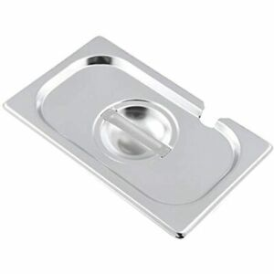 1 9 Size Stainless Steel Slotted Steam Table Pan Cover Kitma Lids Non stick 12