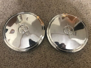 Pair Classic Antique Buick Opel Dog Dish Hubcaps Wheel Covers Center Caps