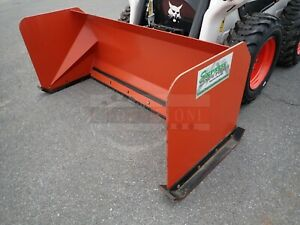 Express Steel 72 Snow Pusher Attachment For Skid Steer Loaders ssl Quick Attach