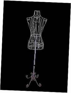 Female White Steel Wire Mannequin Dress Form 32 22 32 On Decorative Stand