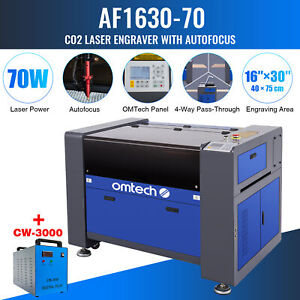 Omtech 30 x16 70w Co2 Laser Engraver Cutter Ruida With Cw 3000 Water Chiller