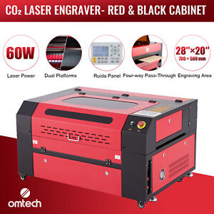 Omtech 60w 28 x20 Co2 Laser Engraving Cutting Etching Machine With Ruida Panel