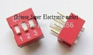 20pcs 3p 3 Position Dip Switch 2 54mm Pitch 2 Row 6 Pin Dip Switch