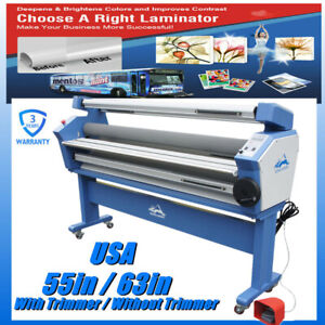 Usa 55 63in Large Cold Laminator Roll To Roll Laminating Machine Trimmer Option