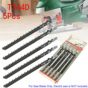 5x T shank 6t Jigsaw Blades Plywood Plastic Wood Jig Saw Cutter Woodwork Tools