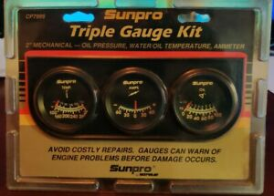 Sunpro Cp 7995 Triple Gauge Kit 2 Mechanical Black