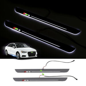 For Audi A3 S3 13 2019 Car Door Moving Led Door Sill Pedal Plates 19 6 1 57inch