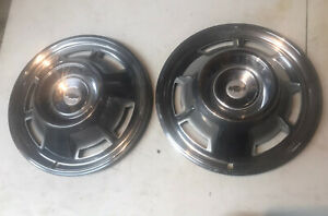 Pair 2 1967 Chevy Camaro Hub Caps 14 Chevrolet Wheel Covers 67 Hubcaps
