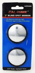 2 Blind Spot Mirror Set Wide Angle Expanded View Adhesive Stick On Mirrors