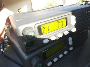 X2 Motorola Mcs 2000 Mobile Radio Partially Tested For Parts No Cords Or Mic s