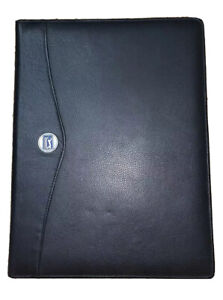 Pga Tour Black Leather Padfolio Letterpad Note Pad Portfolio Folder Cover Euc