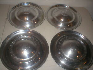1951 51 Kaiser Deluxe Hubcaps Rim Wheel Covers Hub Caps 15 Oem Used Set Of Four