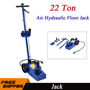 22 Ton Hydraulic Floor Jack Air Operated Truck Lift Tools Heavy Duty Repair Blue