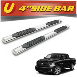 For 10 18 4 Oval Dodge Ram Truck 2500 3500 Crew Cab Side Steps Running Board L1
