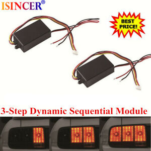 Universal 3step Sequential Flow Semi Dynamic Chase Flash Tail Light Module Boxes