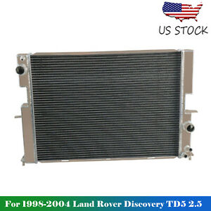 2 Rows Radiator For 1998 2004 2003 2002 2001 2000 Land Rover Discovery 4 0l 4 6l