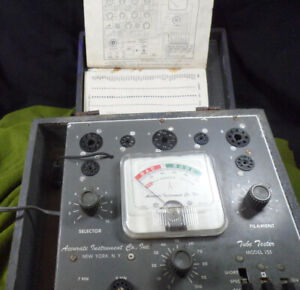 Accurate Instruments Tube Tester Model 151 With 157 Model Manual