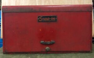 Vintage Snap on Tools 6 Drawer Tool Box Top Chest With Key