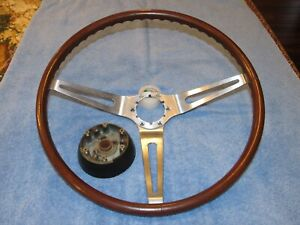 Original 1969 Rosewood Steering Wheel Hub 69 Camaro Rs Ss Z 28 Chevelle
