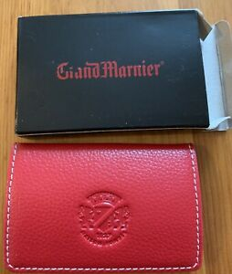 Grand Marnier Leather Business Name Card Holder Wallet Case Organizer W Magnetic
